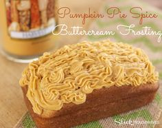 Pumpkin Pie Spice Buttercream Frosting Recipe! This frosting recipe is so good and easy to make! I love the flavor and it tastes great on any dessert or cake~