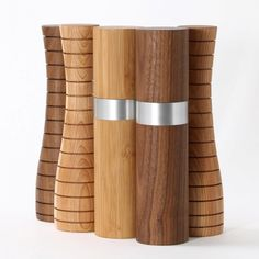 Modern Wood Pepper Mill