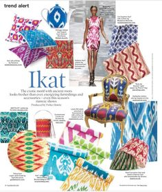 I is for ikat (Elle Decor, May 2010) -