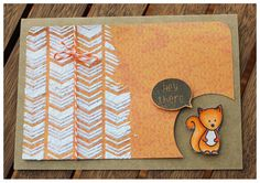 Karte, Friends in the Wood, Stempel, Create a smile Stamps