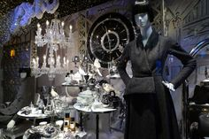Dior Christmas windows, Paris visual merchandising