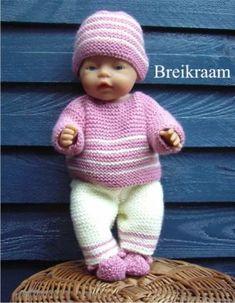 Breipatroon Babyborn in pastel