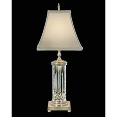 """Waterford Lismore 22"""" H Table Lamp with Bell Shade"""