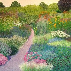 ❀ Blooming Brushwork ❀ - garden and still life flower paintings - The Garden Path, Susan Entwistle