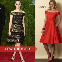 Sew the Look: Amanda Seyfried wore Oscar de la Renta to the 2015 Tony Awards. You can sew your version of this dress with Butterick B6129 sewing pattern.