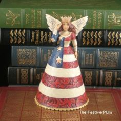4016877 Jim Shore 4th of July Small Patriotic Angel | eBay