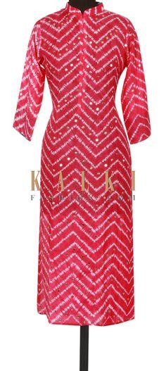 Rani pink kurti adorn in badla embroidery only on Kalki