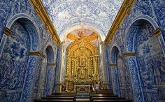 View top-quality stock photos of Interior View Of Church Igreja Sao Lourenco Blue Tiles And Golden Altar Chapel Almancil Algarve Portugal. Find premium, high-resolution stock photography at Getty Images. Algarve, Portugal, Church Interior, Blue Tiles, Spanish Style, Plan Your Trip, Barcelona Cathedral, Castle, Stock Photos