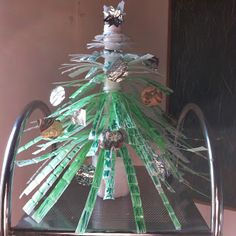 Think.Create.Craft: XMas Tree - Recycling Plastic Bottles