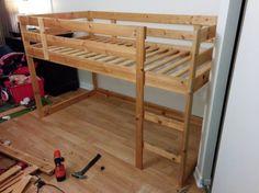 Turn a MYDAL bunkbed into a KURA loft bed
