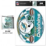 Miami Dolphins Stained Glass Ultra Decal 11 x 17