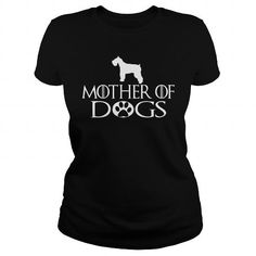 Awesome Standard Schnauzer Lovers Tee Shirts Gift for you or your family your friend:   MOTHER OF DOGS Standard Schnauzer Tee Shirts T-Shirts