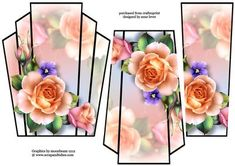 Art Deco Stacker Topper Peach Spring Roses on Craftsuprint - View Now!
