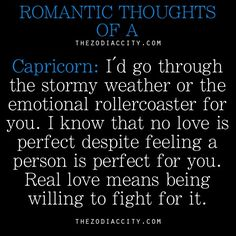 Romantic thought of a, Capricorn