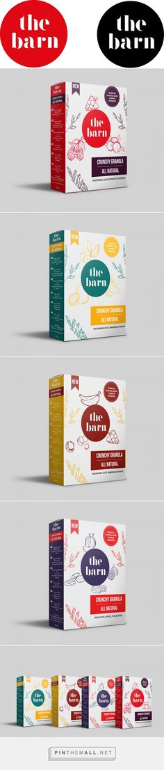 The Barn crunchy granola by Estelle Zeller. Source: Behance. Pin curated by #SFields99 #packaging #design