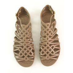 4a24215afc85 Diane Von Furstenberg DVF Jaya Love Knot Taupe Jelly Sandals