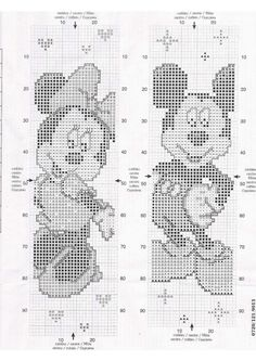Part 02 - Mickey en Minnie (total 3 parts) Cross Stitch Books, Cross Stitch Bookmarks, Beaded Cross Stitch, Simple Cross Stitch, Cross Stitch Charts, Cross Stitch Embroidery, Embroidery Patterns, Disney Cross Stitch Patterns, Cross Stitch Designs