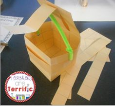 Can you build a container using only a few supplies? It must hold weight, fasten, and hinge! Quick STEM Challenge- with a lab sheet and folding graphic organizer! #STEM #Engineering #teacherspayteachers