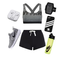 Pop of colour by designbecky on Polyvore featuring polyvore fashion style Ivy Park New Look PhunkeeTree NIKE adidas clothing
