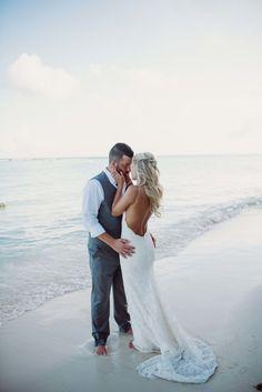 Katie May Poipu Gown, Sandals Barbados, destination beach wedding #DestinationWeddings