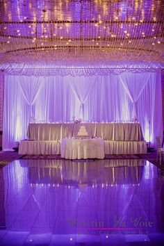 """This is for the stage purpose only but I actually like the idea for the """"main"""" cake to be for pictures! Armenian Wedding, Arab Wedding, Wedding Stage, Our Wedding, Indoor Wedding Receptions, Winter Wonderland Wedding, Event Lighting, Reception Decorations, Photographs"""