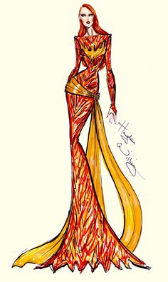 #Hayden Williams Fashion Illustrations #Marvel Couture by Hayden Williams: Dark Phoenix