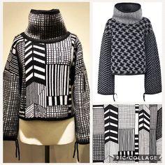 Sweater by Donatella Mestriner, in the fashion of Marimekko, using img2track