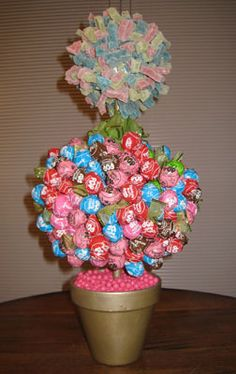 My crazy candy topiary