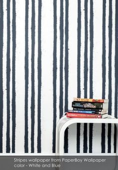 Stripes Wallpaper from PaperBoy Wallpaper - Patternsnap Blog 'Matchy Matchy'