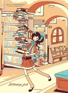 cutehappysweets:  Me in the library