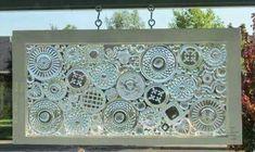 Glass plates glued to a glass window