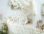 1 M galon dentelle fleur en coton blanche 6 cm : Rubans par tranquillement sur ALittleMercerie