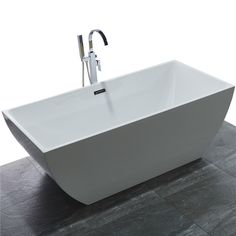 "Kaifeng 70"" Modern Freestanding Acrylic Soaking Bathtub, Glossy White - KAI FENG Sanitary Ware is a leading enterprise specialized in freestanding bathtub, shower cabin, massage bathtub and related bathroom accessories.  Our products are ISO9001 qualified and CUPC & CE certified. We pay great attention on product details such as researching, designing, producing, testing, packing and etc. We try our best on refining each step and the process to ensure product elegance and durability..."