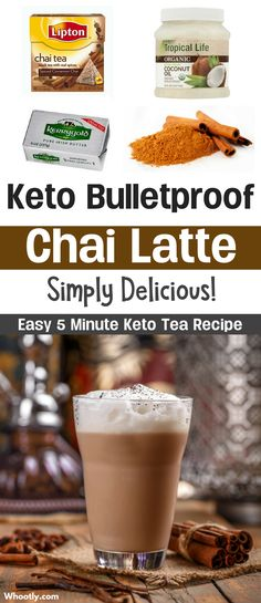 Easy Low Carb Keto Chai Tea Latte Recipe. This bulletproof alternative is just as good as the original. Made with healthy organic butter and coconut oil. See the full recipe here!