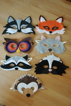 Fun! Masks to make for the kids to play.