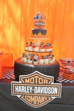 "Photo 4 of 27: Harley Davidson / Birthday ""Sebastián 3 years"" | Catch My Party"
