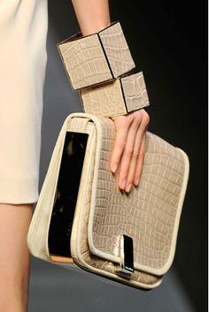 Gianfranco Ferre' Leather Bangles- Milan Fashion Week 2012