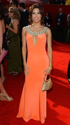 Orange has been rocking red carpets for several years now - Eva Longoria 2005 Emmy Awards