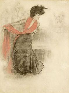 Dibujo de Ramon Casas