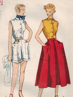 1950s Simplicity 3160 Vintage Sewing Pattern by midvalecottage, $12.00