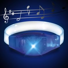 Sound Activated Beat Bracelet (Blue) - That's right, SOUND ACTIVATED! Play some music and this bracelet will flash along to the beat! Perfect for a night out on the town, or going to concerts!