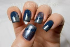 manicurator: 31DC: Day 5 - Blue (Clouds nail art with Zoya)