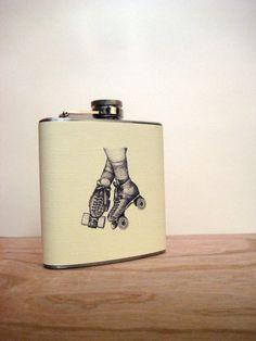 Roller skate flask