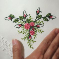 beautiful embroidery from Sonia Showalter