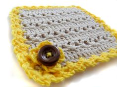 Square Crocheted Coasters  Set of Four  Free by HunnybeeCrafts