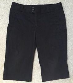 *BANANA REPUBLIC* Women's Black Martin Fit Capri Cropped Pants 16 PLUS SIZE