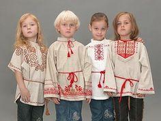 косоворотка детская. Russian traditional linen shirt. Kids.