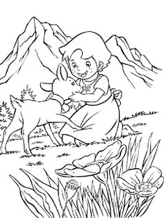Heidi Coloring Pages - Coloring pages for kids Drawing Cartoon Characters, Cartoon Drawings, Cartoon Art, Paw Patrol Badge, Paw Patrol Party, Colouring Pages, Coloring Books, Heidi Cartoon, Chibi Spiderman