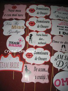 Mesaje personalizate pentru nunta, din carton de 350grmp. La comanda se personalizeaza cu mesajul sau poza dorita. Doritos, Team Bride, Crystals, Tips, Desserts, Food, Tailgate Desserts, Deserts, Essen
