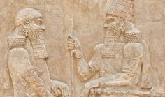 A Sumerian king and an official